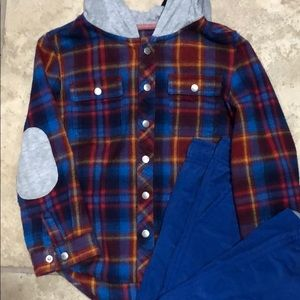 Cat & Jack Fall Plaid Soft Flannel Button Down